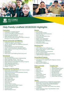Holy Family Lindfield School Highlights
