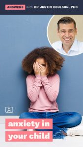 """""""Anxiety in your Child"""" seminar with Dr Justin Coulson"""